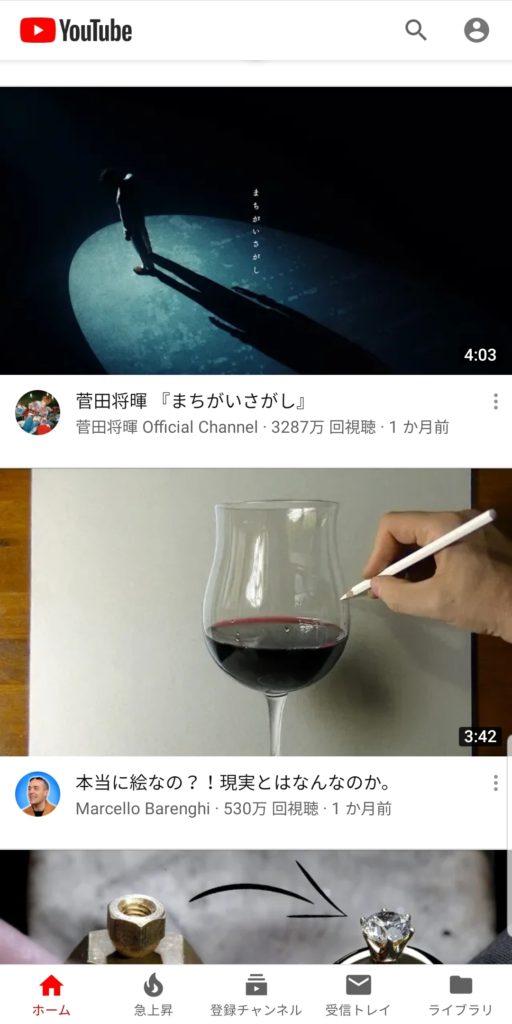 YouTube Vancedの起動画面