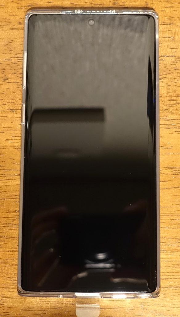 Galaxy Note10付属TPUケースに本体をセットした画像
