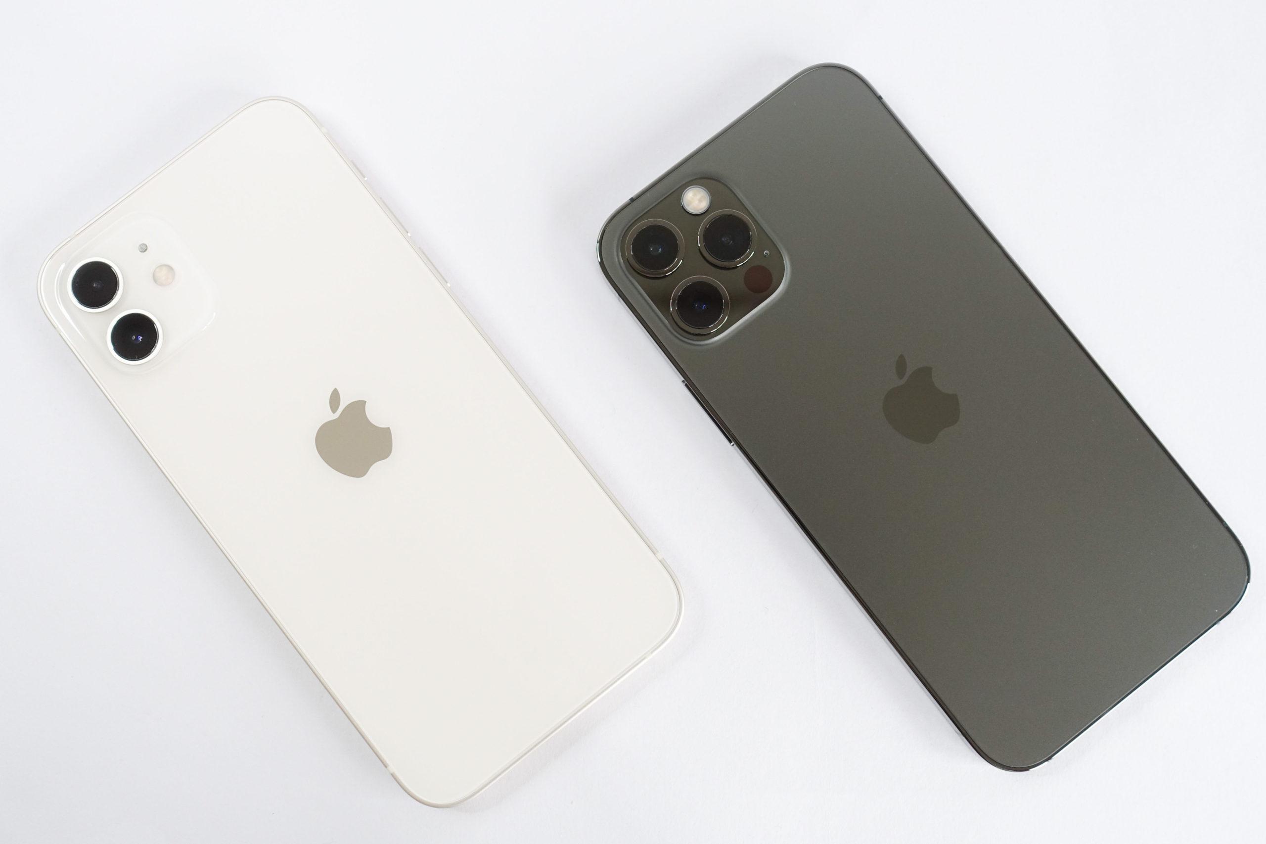 iPhone 12とiPhone 12 Proの背面画像