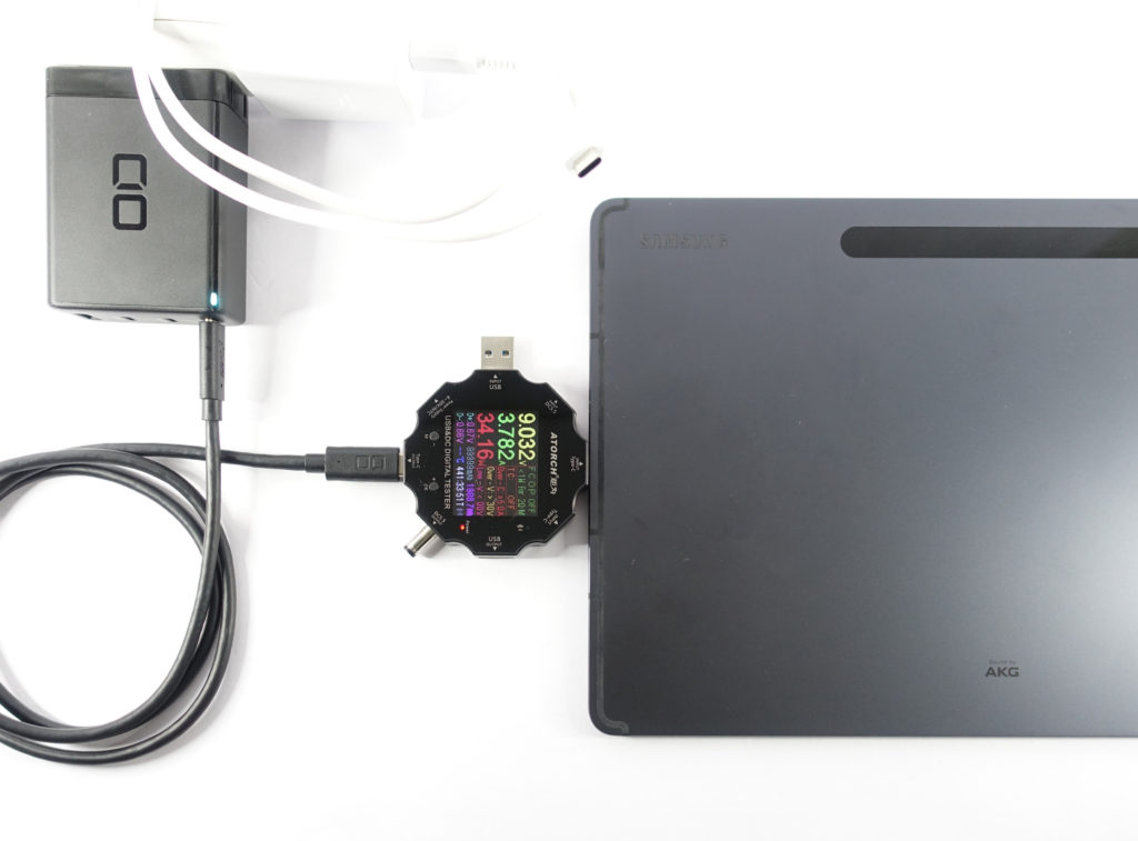 LilNob3C1Aでタブレットの充電をテスト!(Galaxy Tab S7+)