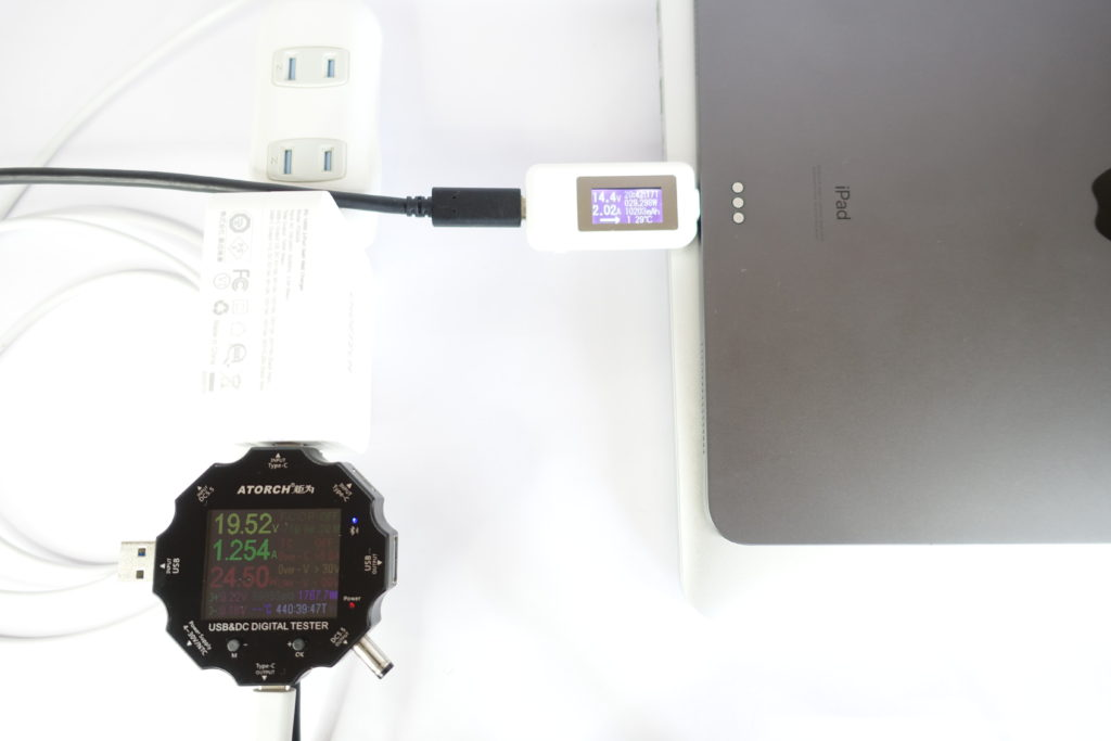 CHOETECH PD6008の同時充電をテスト!