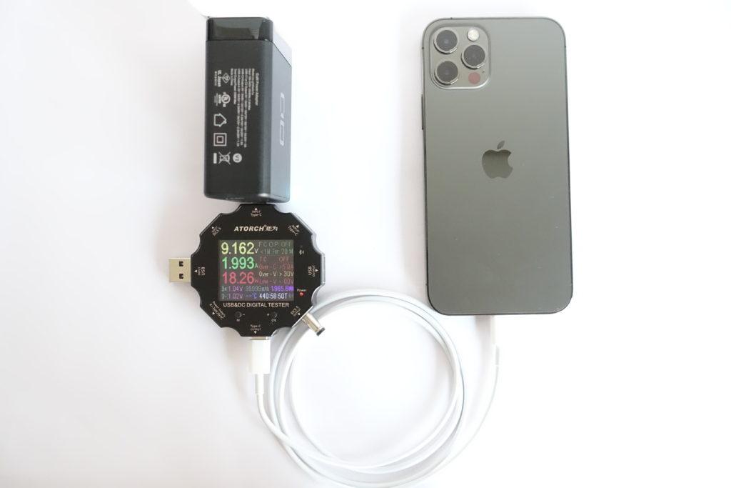 LilNob3C1Aでスマホの充電をテスト!(iPhone 12 Pro)