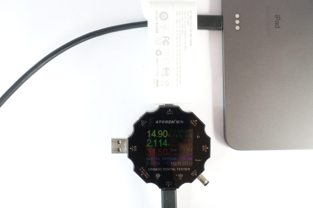 CHOETECH PD6008で「iPad Pro12.9 2018」を充電!