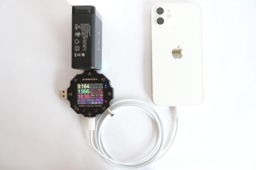 LilNob3C1Aでスマホの充電をテスト!(iPhone 12)