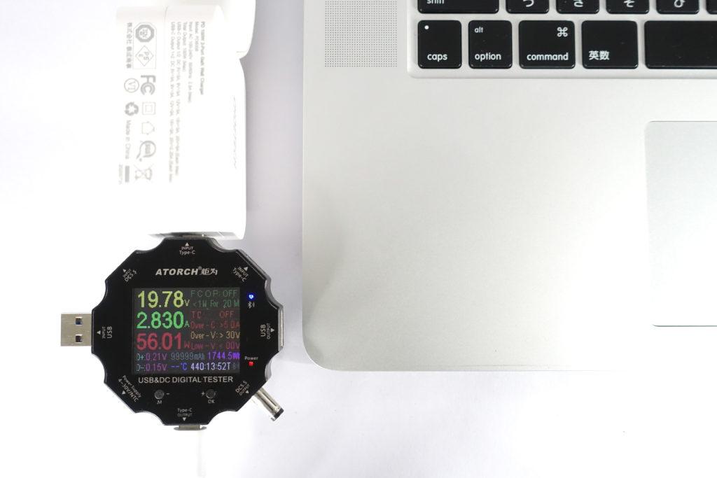 CHOETECH PD6008で「MacBook Pro 15インチ」を充電!