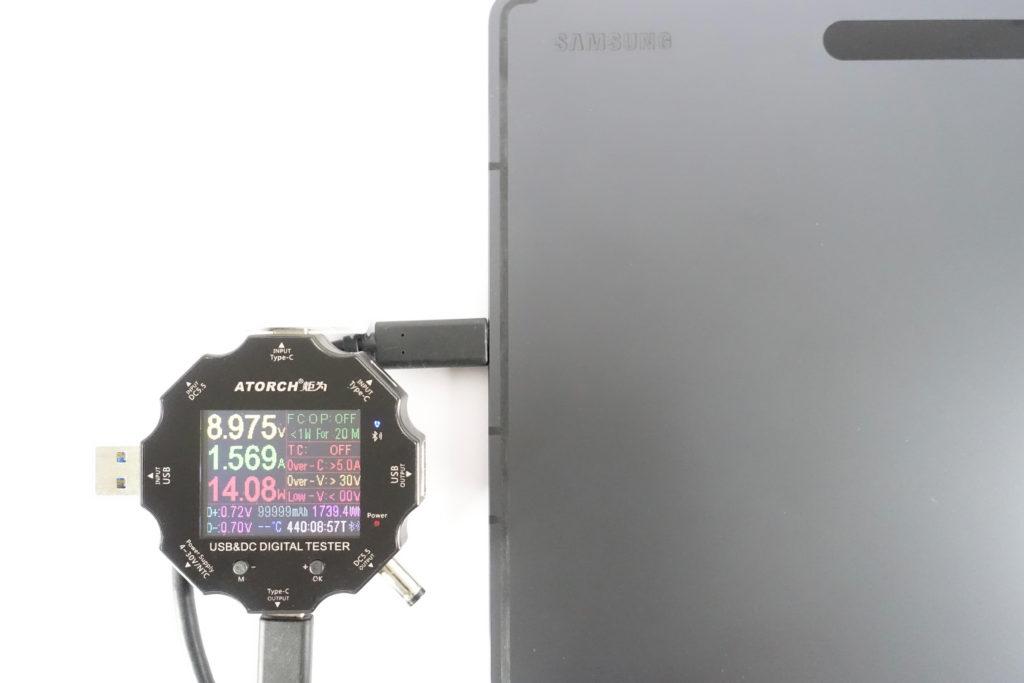 CHOETECH PD6008で「Galaxy Tab S7+」を充電!