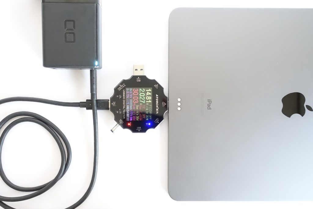 LilNob3C1Aでタブレットの充電をテスト!